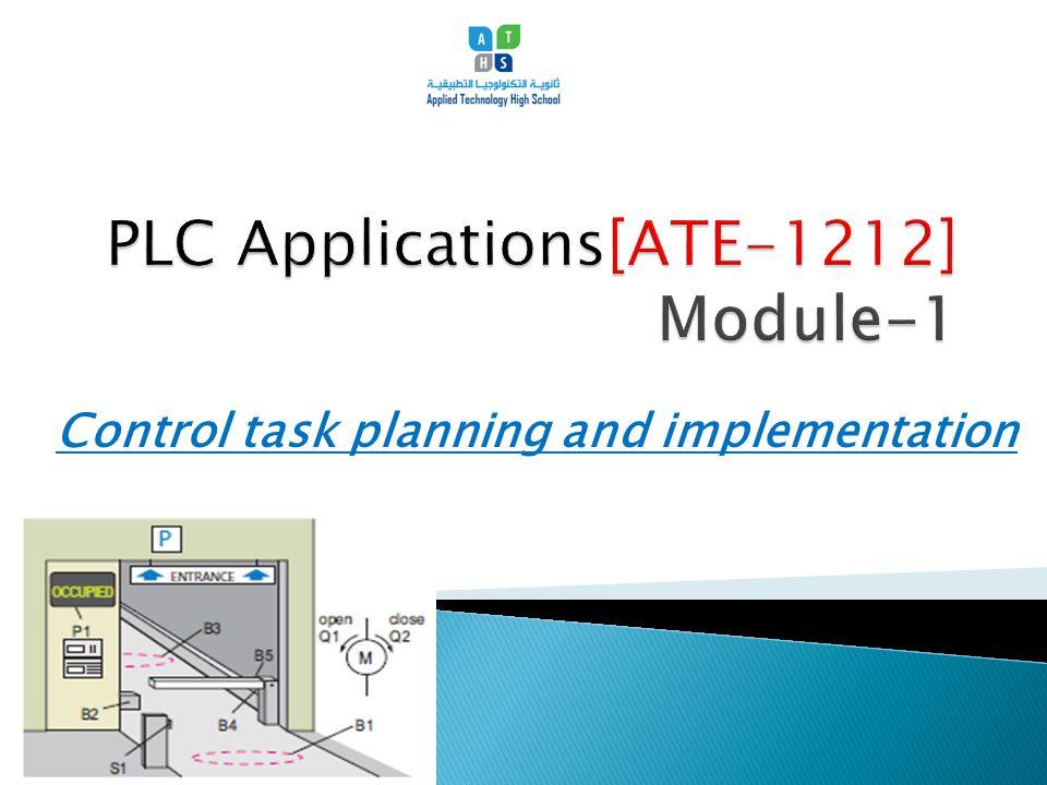 PLC Applications[ATE-1212] Module-1